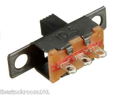 3 x Miniature 2 Position Slide Switch SPDT 3-Pin