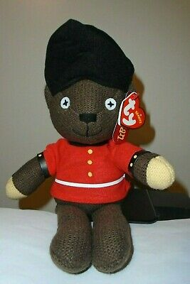 Ty Beanie Baby ~ MR. BEAN (GUARDSMAN) ~UK ~ Teddy Bear ~ NEW MINT with MINT TAGS
