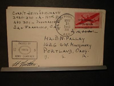 APO 301 ROCKHAMPTON, AUSTRALIA 1943 Censored WWII Army Cover 147th FA