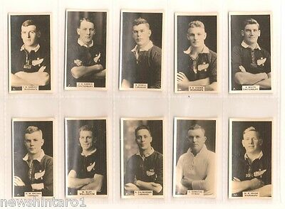 New Zealand Set 1927 Rugby Union Footballers Cigarette Cards - Folder & Slipcase