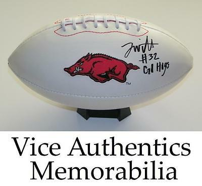 Jonathan Williams Signed Autograph Auto Arkansas Razorbacks Football w/Go Hogs