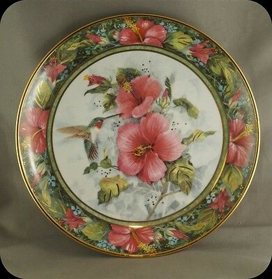 Theresa Politowicz Imperial Hummingbird Collector Plate