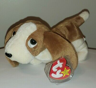 Ty Beanie Baby ~  TRACKER the Basset Hound Dog ~ MINT with MINT TAGS ~ RETIRED