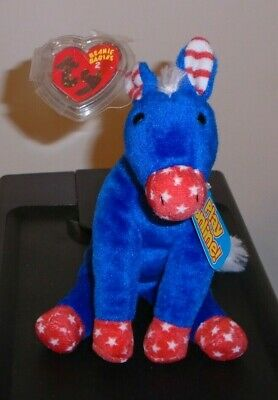 Ty 2.0 Beanie Baby ~ LEFTY the 2008 DONKEY - MINT with MINT TAGS -Stuffed Animal