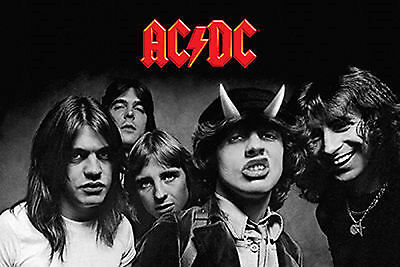 "Ac/dc Group Photo With Bon Scott Giant Poster 40"" X 60"" New  !"