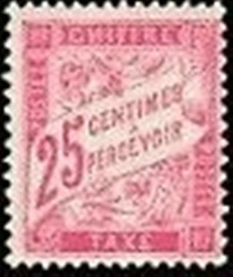 "FRANCE STAMP TIMBRE TAXE N° 32 "" TYPE DUVAL 25c ROSE "" NEUF xx TTB"