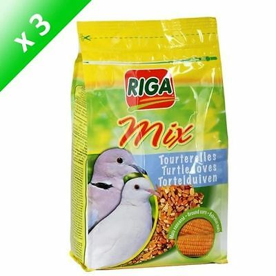 RIGA Lot de 3 RIGA Mix stand up pour tourterelles 1kg - Lot de 2 sachet NEUF