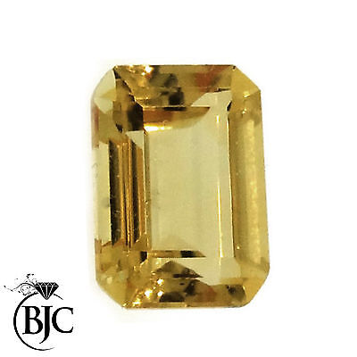 BJC® Loose Natural Yellow Citrine Emerald Cut Stones Sizes 9 x 7 - 13 x 12