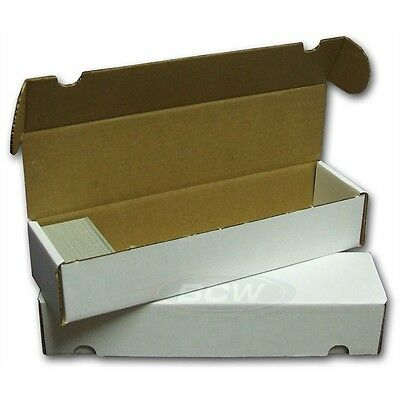4 New 800 Card Cardboard Storage Box - Gaming Trading  Sports Boxes  MTG  BCW