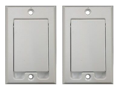 (2) Central Vacuum Square Door Inlet Wall Plate White for Nutone Beam VacuFlow
