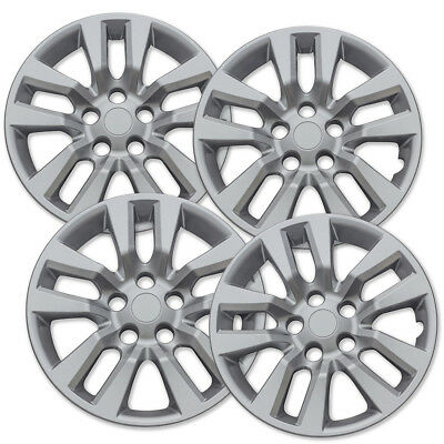 "4 Pc Set New 16""  Hub Cap Silver Wheel Cover fits Nissan Altima Quest 02-14"