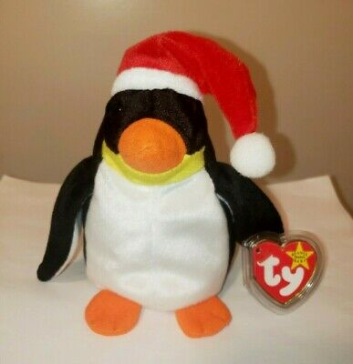 Ty Beanie Baby ~ ZERO the Holiday Penguin (6 Inch) MWMT