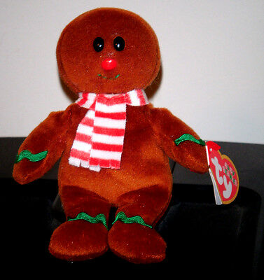 "Ty Baby Jingle Holiday Beanie ~ YUMMY the 4.5"" Gingerbread Man ~MINT w/MINT TAGS"