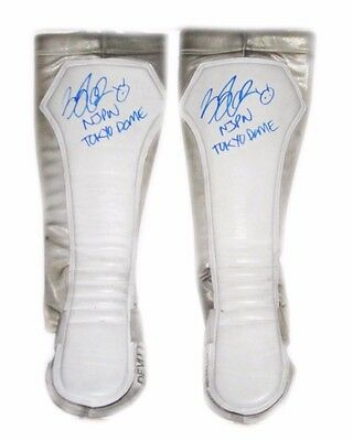 Wwe Nxt Finn Balor Ring Worn Hand Signed Tokyo Dome Kickpads With Pic Proof 2