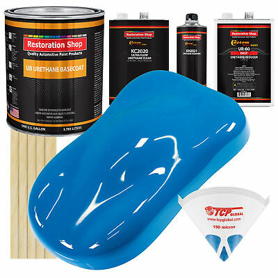 Speed Blue Gallon Premium URETHANE BASECOAT CLEARCOAT Car Auto Paint FAST Kit