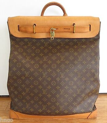 .pre Owned Louis Vuitton Steamer 45 Canvas & Leather Bag