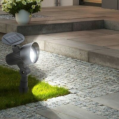 led solar strahler spot light boden lampe leuchte garten au en hof veranda beet eur 11 90. Black Bedroom Furniture Sets. Home Design Ideas