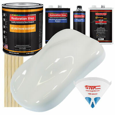 Pure White Gallon URETHANE BASECOAT CLEARCOAT Car Auto Paint FAST Kit