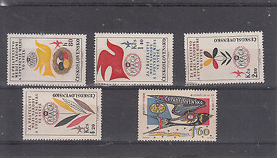 Czechoslovakia Stockcard Sg1297-1300 And Others Sets Mint Cv 14 Gbp