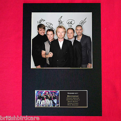BOYZONE Stephen Gately Mounted Signed Photo Reproduction Autograph Print A4 194