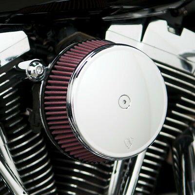 Arlen Ness Big Sucker Stage I Air Filter Kit W/Cover Red Filter Chrome Twin Cam
