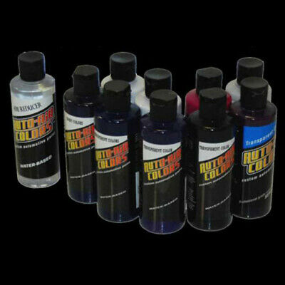 AUTO-AIR COLOR Purple Live Fire Flames PAINT-Airbrush