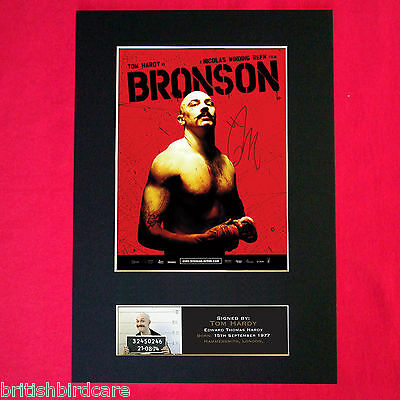 BRONSON Tom Hardy Autograph Mounted Photo Reproduction PRINT A4 374