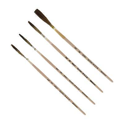 MACK Wizard's Pinstriping Grey Quill Brushes SET OF 4