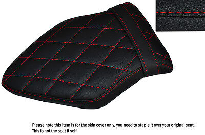 BLACK /& RED CUSTOM FITS BMW S 1000 XR 15-16 DUAL LEATHER SEAT COVER