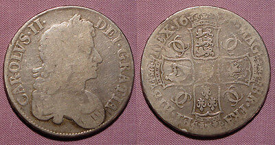 1676 King Charles Ii Crown - Third Bust - Octavo