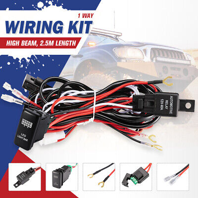 TOYOTA Heavy Duty LED Light Bar Wiring Loom Harness 40A Switch Relay Kit 12V