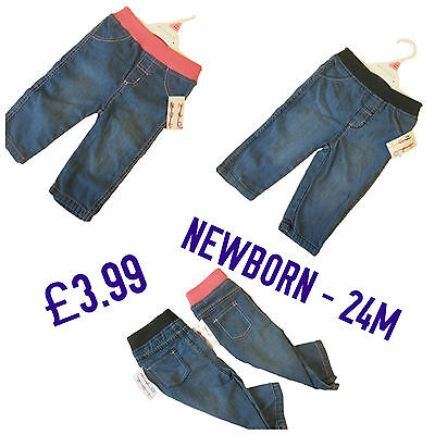 Baby Boys Girls Jeans Leggings Trousers Pants Denim Kids Jeggings 100% Cotton