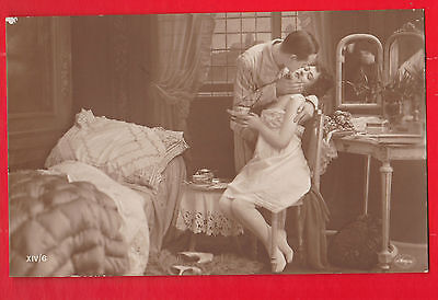 Glamour, Nudes risqué, Erotic French postcard.t