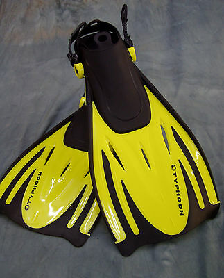 Adults Typhoon Tjet Fins Flippers Snorkel Snorkelling Diving Travel Fins