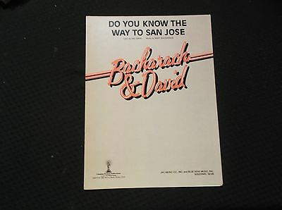 Do You Know The Way To San Jose (1967) Hal David & Burt Bacharach #5200*