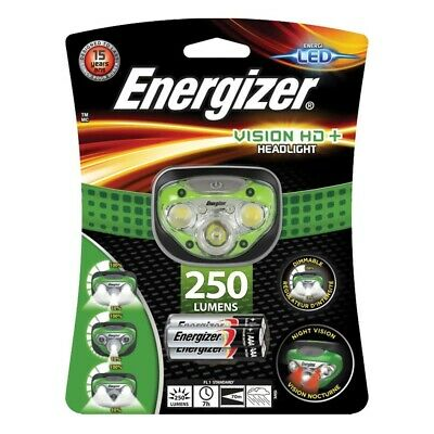 Energizer Vision HD+ Headlight with 3 x AAA Energizer Max batteries included