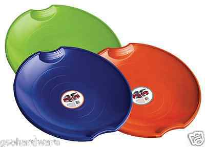 Pack of 3 - Paricon Plastic Flying SAUCER Disc Sled *Get ready for the SNOW!*