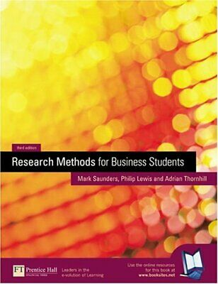Research Methods for Business Students by Thornhill, Adrian Paperback Book The