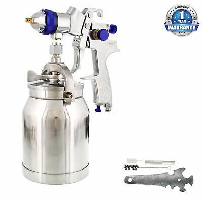 1.8mm HVLP Suction Feed SPRAY GUN w/ AIR REGULATOR Auto Paint Basecoat Clearcoat