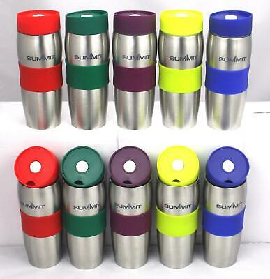 Summit Leakproof Insulated Thermal Travel Coffee Mug Cup Flask Removeable Lid