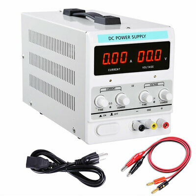 30V 5A DC Power Supply Adjustable Dual Digital Variable Precision Lab Grade 110V