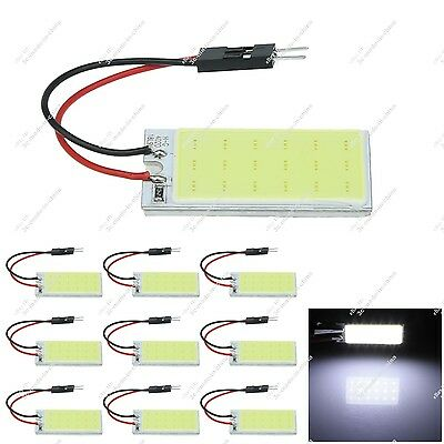 10X White Car 18 chips COB LED Panel Festoon Bulbs With T10 Adapter ZJ302