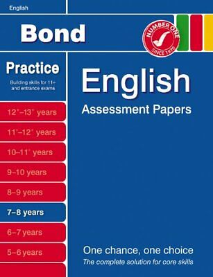 Bond Assessment Papers in English 7-8 years: First... by Sarah Lindsay Paperback