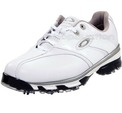 Oakley Superdrive White Size 11 US 42 Mens Casual Golf Cleats Pro Leather Shoes