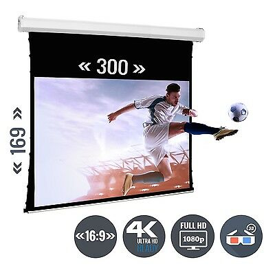 Beamer Leinwand Tension Motorleinwand 135 Zoll 300 x 169 / 16:9 Full HD 3D 4K