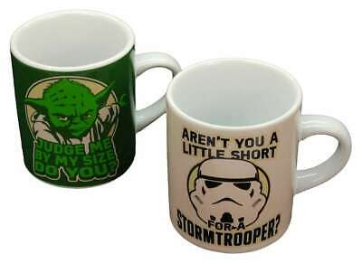 Star Wars Yoda And Stormtrooper Set Of 2 Mini Mugs Espresso Cups Gift Boxed