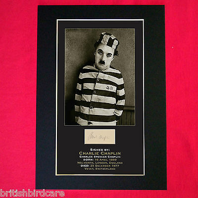 CHARLIE CHAPLIN Mounted Signed Photo Reproduction Autograph Print A4 8