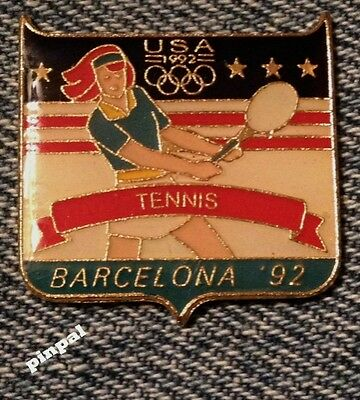 Tennis Olympic Pin ~ 1992 Barcelona Summer Games ~ USA Team~Fundraising