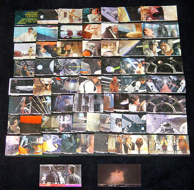 Star Wars Topps 3di A New Hope Widevision Card Set + Promo P1 + 3D Motion Insert