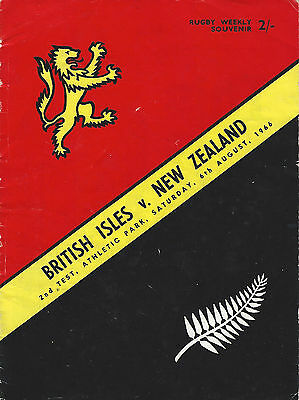 BRITISH LIONS 1966 2nd TEST v NEW ZEALAND RUGBY PROGRAMME